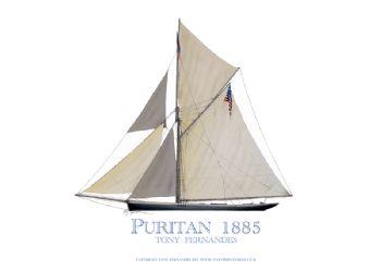 1885 Puritan - signed print